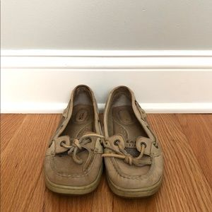 Tan Sperry Top-Sider Boat Shoe